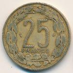Центральная Африка, 25 франков (1998 г.)