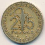Западная Африка, 25 франков (1996 г.)