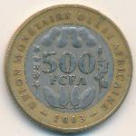 Западная Африка, 500 франков (2003 г.)