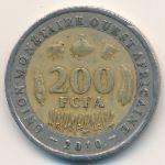 Западная Африка, 200 франков (2010 г.)