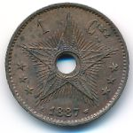 Congo free state, 1 centime, 1887–1888