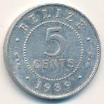 Белиз, 5 центов (1989 г.)
