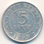 Белиз, 5 центов (1993 г.)