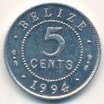Белиз, 5 центов (1994 г.)