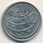 Каймановы острова, 10 центов (1972 г.)