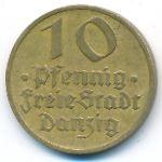 Данциг, 10 пфеннигов (1932 г.)