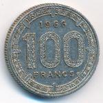 Экваториальные Африканские Штаты, 100 франков (1966–1967 г.)