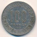 Чад, 100 франков (1975 г.)