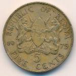 Кения, 5 центов (1975 г.)