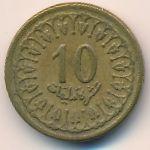 Тунис, 10 миллим (1960 г.)