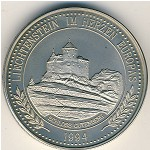 Liechtenstein, 5 ecu, 1994