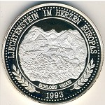 Liechtenstein, 20 ecu, 1993