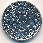 Антильские острова, 25 центов (1990 г.)