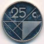 Аруба, 25 центов (1986 г.)