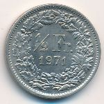 Швейцария, 1/2 франка (1971 г.)