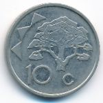 Намибия, 10 центов (2002 г.)