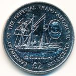 British Antarctic Territory, 2 pounds, 2014