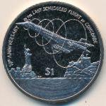 Виргинские острова, 1 доллар (2013 г.)