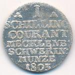 Мекленбург-Шверин, 1 шиллинг (1803–1805 г.)