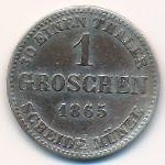 Саксен-Кобург-Гота, 1 грош (1865 г.)