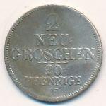 Саксония, 2 новых гроша (1848 г.)