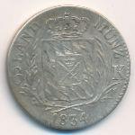 Бавария, 6 крейцеров (1834 г.)