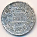 Боливия, 20 сентаво (1878 г.)
