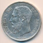 Бельгия, 5 франков (1872 г.)