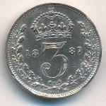 Великобритания, 3 пенса (1887 г.)