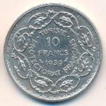 Тунис, 10 франков (1939 г.)