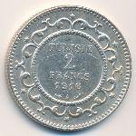 Тунис, 2 франка (1916 г.)