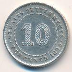 Стрейтс-Сетлментс, 10 центов (1884–1899 г.)