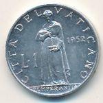 Ватикан, 1 лира (1952 г.)
