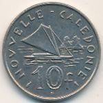 Новая Каледония, 10 франков (1973–1977 г.)