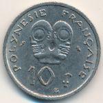 Французская Полинезия, 10 франков (1967 г.)