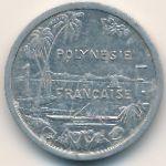 Французская Полинезия, 1 франк (1985–2011 г.)