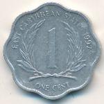 Восточные Карибы, 1 цент (1981–1997 г.)