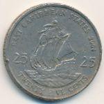 Восточные Карибы, 25 центов (2004 г.)