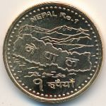 Непал, 1 рупия (2009 г.)