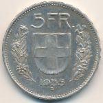 Швейцария, 5 франков (1935 г.)