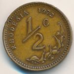 Родезия, 1/2 цента (1972 г.)