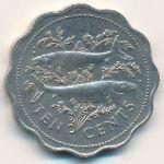 Багамские острова, 10 центов (1985–1989 г.)