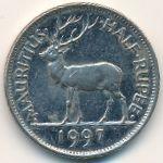 Маврикий, 1/2 рупии (1997–2013 г.)