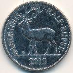 Маврикий, 1/2 рупии (1987–2013 г.)