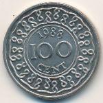 Суринам, 100 центов (1988 г.)