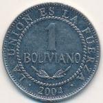 Боливия, 1 боливиано (2004 г.)
