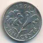 Бермудские острова, 10 центов (1996 г.)