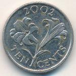 Бермудские острова, 10 центов (2002 г.)
