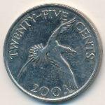 Бермудские острова, 25 центов (2003 г.)