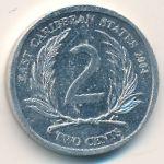 Восточные Карибы, 2 цента (2004 г.)